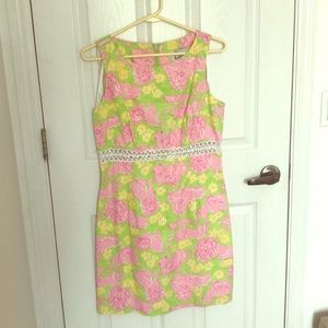 Lilly Pulitzer Lion Cutout Dress